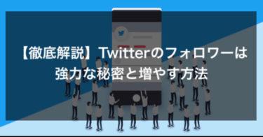 【徹底解説】Twitterのフォロワーは強力な秘密と増やす方法