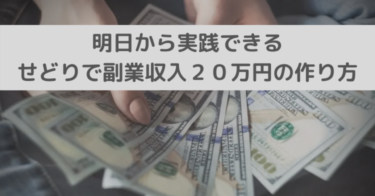 明日から実践できる【せどりで副業収入20万円】の作り方