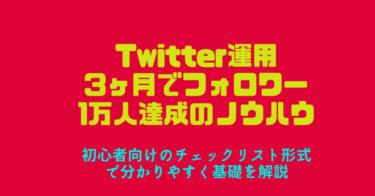 【初心者向けTwitterフォロワーの増やし方】3ヶ月でフォロワー1万人達成のノウハウ公開