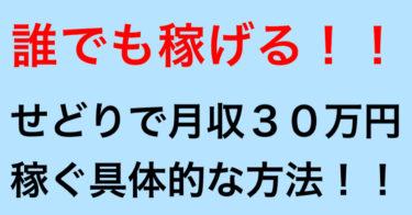 【紹介料50%】せどりで月収30万円以上稼ぐ具体的な方法!!