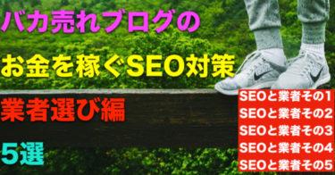 バカ売れブログのお金を稼ぐSEO対策、利益爆発上昇業者選び編