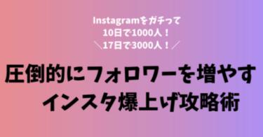Instagramを17日間ガチってフォロワー3000人増やした方法!誰も教えてくれないインスタ戦略術とは?