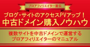 ブログ・サイトのアクセスPVアップ中古ドメイン購入ノウハウ【5部限定価格】2,500円⇒100円