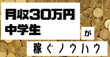 中学生でも月収30万円を達成したノウハウを全部バラします!
