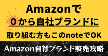 Amazonで自社ブランド商品販売を攻略するためのノウハウまとめ