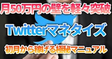 【Twitterマネタイズ】初月から収益を出し、月50万の壁を軽々突破する方法