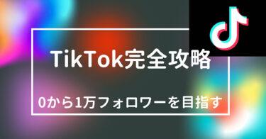 【2021年】TikTok戦略完全版!まずはフォロワー1万を目指そう!