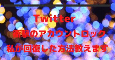Twitterアカウントロックから回復した方法とアカウントの守り方