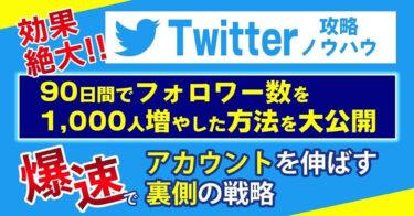 【Twitter攻略ノウハウ】90日間でフォロワー数を1000人増やした裏側の戦略を公開