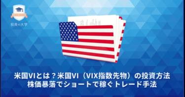 米国VIとは?米国VI(VIX指数先物)の投資方法。株価暴落でショートで稼ぐトレード手法とCFD・ETF比較