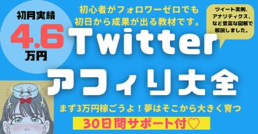 【コスパ最強30日間サポート付】Twitterアフィリ大全