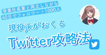 【現役jkがおくる】スーパーTwitter攻略法